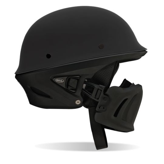 Rogue Cruiser Helmet Riding Motorcycles is not only a hobby it's a lifestyle. Protection and style mashed into one on this tough and comfortable helmet from Bell Helmets. It has a lightweight composite shell and speaker compatible for those bluetooth systems. The muzzle gives you that tough look which also offers additional protection from those unexpected bugs or debris from the freeway. Now go out and ride with this helmet and talk like Bane in Batman! BUILT BELL TOUGH. INNOVATIVE MUZZLE. Purpose built to guard against the elements, the new Rogue has the look of a half helmet with the comfort of a 3/4. FEATURES – Adjustable Muzzle features removable liner – Fidlock Magnetic Connection makes it easy to put on/take off the Muzzle – Five-Year Warranty – Integrated Speaker Pockets – Lightweight Composite Shell – Removable/Washable Interior SPECIFICATION WEIGHT: 1350 Grams Sizing ChartJordan Miller