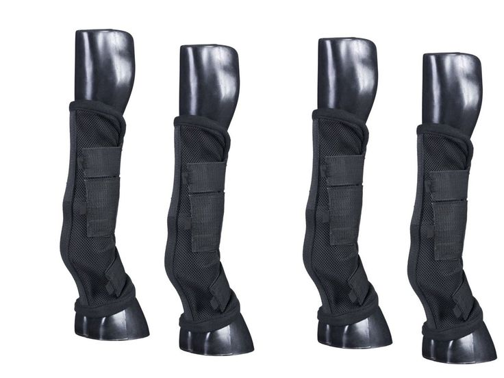 Fly and Insect Repellents 183398: Horse Fly Boots - Set Of 4 - Comfort Mesh W Stand Up Strip - Black - New Design -> BUY IT NOW ONLY: $54.99 on eBay!