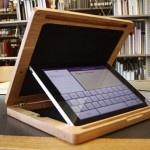 Wooden iPad case