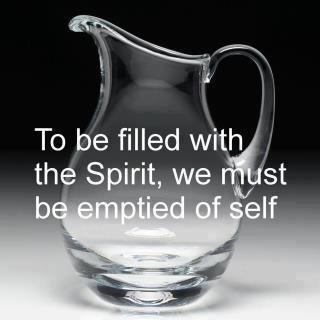 Empty me , Lord, and fill me with the things of God!!!