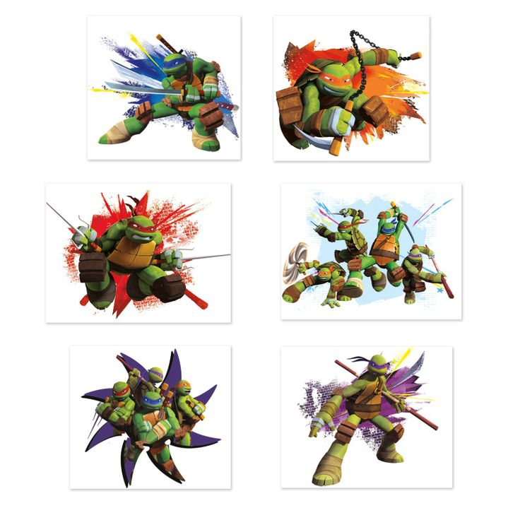 Nickelodeon Teenage Mutant Ninja Turtles Tattoo Sheets, 88427 $2 ea for 4 sheets of 6