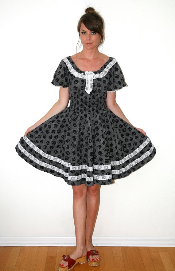 40bb679acde Rockabilly Partners Please Square Dancing Dress by VintageReBelle ...