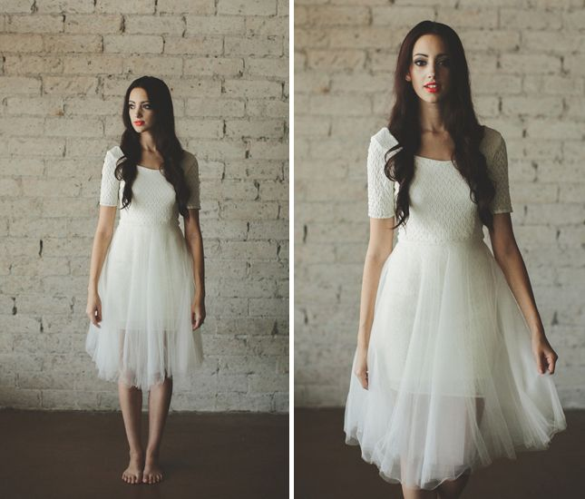 20 Non-Traditional Tea-Length Wedding Dresses via Brit + Co.