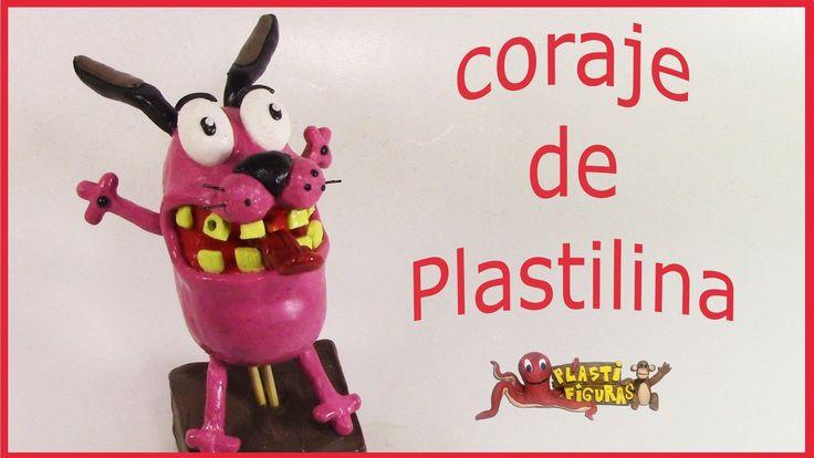 Como Hacer a Coraje el perro cobarde de Plastilina/How To Make Courage w...