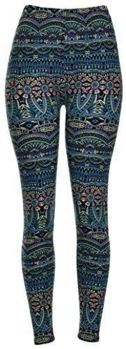 PLUS SIZE Printed Leggings (Atlantis)