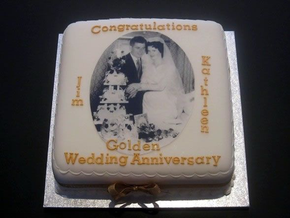 Golden Wedding Anniversary | Golden Wedding Anniversary Cake | Completely Cakes