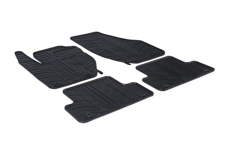 Gledring 2013-2016 Volvo V40 Custom Fit All Weather Floor Mats - Protect your car floor carpet with these custom molded rubber floor mats. This 4 piece set will cover the floor area for the front and rear seats. The rubber material will hold the floor mats in place. These mats also have holes for the factory floor anchors for an even more secure fitting. There is no trimming needed. Just set them in place and secure the front floor mat anchors in place. These heavy duty mats are produced out…