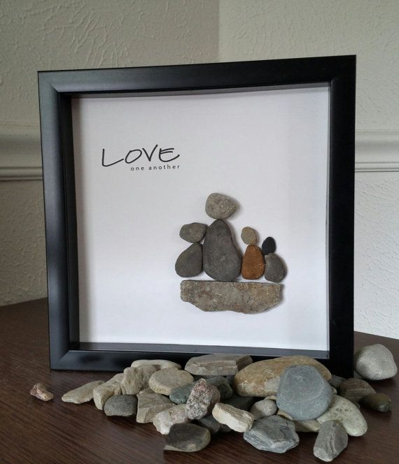 Pebble Rock Art by JeniferLeighDesigns on Etsy