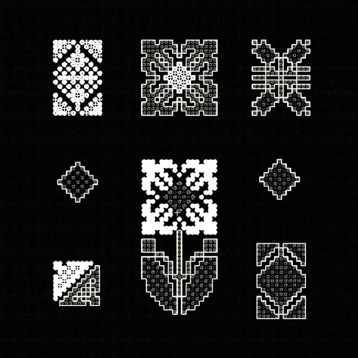 Embroidery Designs Set Black & White, 5×7, INSTANT DOWNLOAD, embroidered cross stitch, machine designs floral pattern, Folk Flowers 7 items