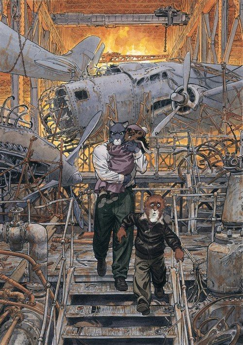 Blacksad by Juan Díaz Canales (writer) and Juanjo Guarnido (artist)
