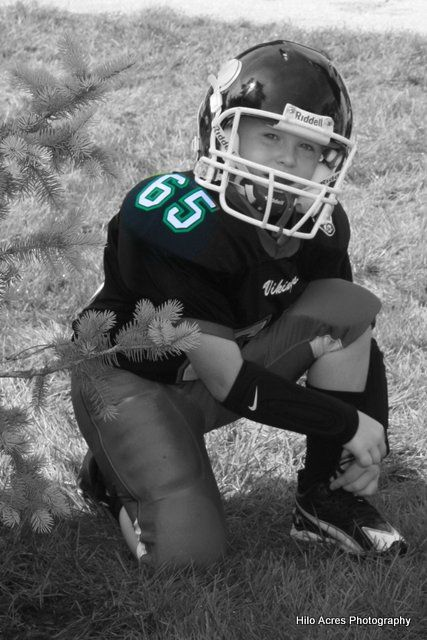 Pee Wee Football number highlighted