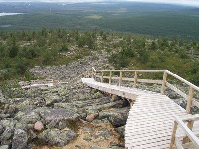 Iso Pyhä fell trail 7.3 km. One-day trip. Difficulty classification: demanding