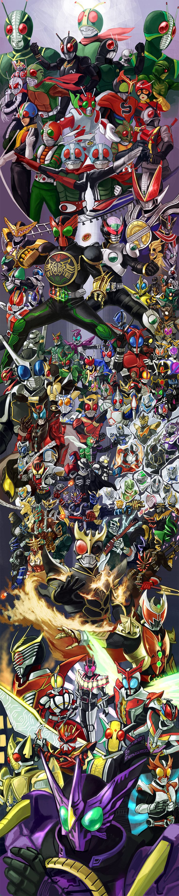 Main Kamen riders and some secondary ones <3 <3 <3