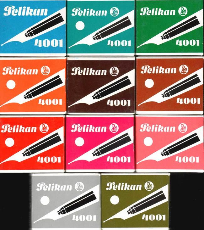 Füllerpatronen - man wollte alle Farben und anschliessend wurden diese Kügelchen gesammelt...warum auch immer...