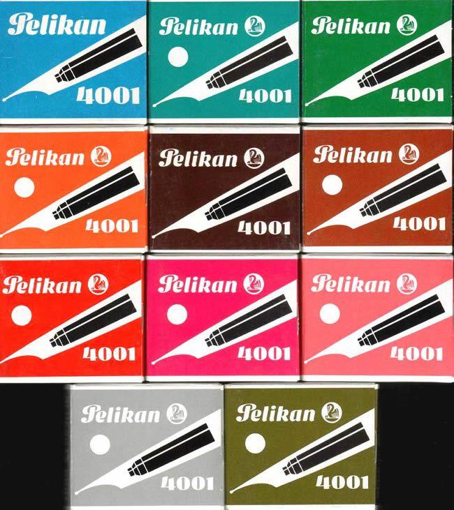 Pelikan cartridge ink box designs. Füllerpatronen