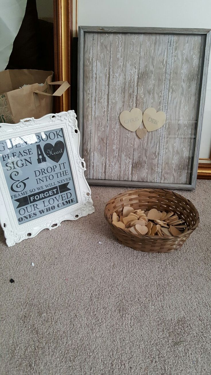 Wooden Heart Guest Book by: The Bride