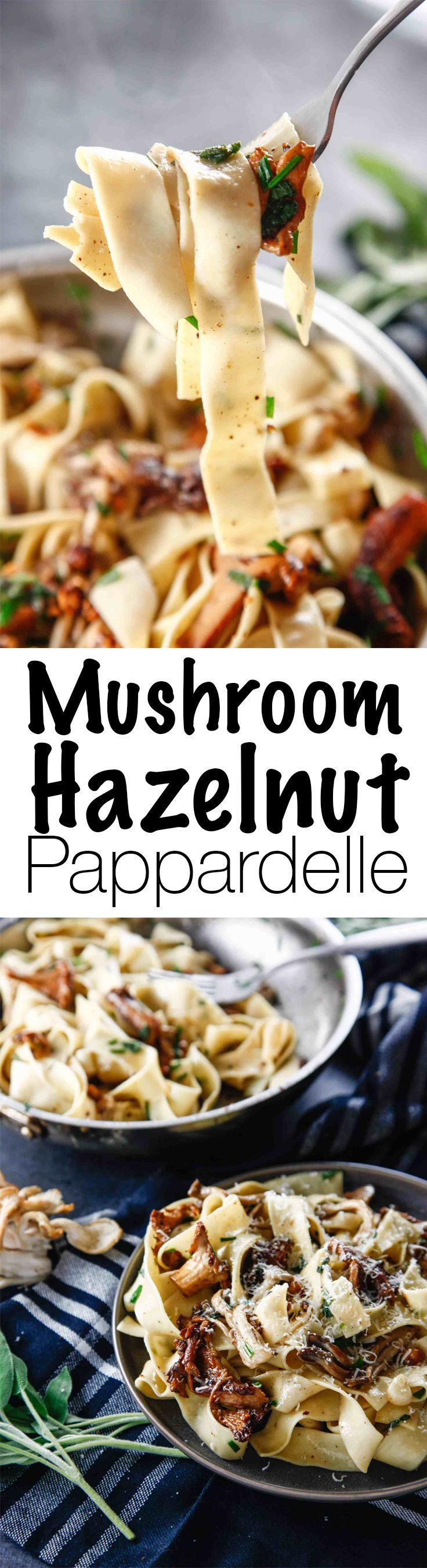 In search of a quick and easy vegetarian dish? This recipe for Mushroom Hazelnut Pappardelle is simplistic and classic, something that will impress your vegetarian friends to no end! Enjoy this earthy flavored pasta! via @thebrooklyncook