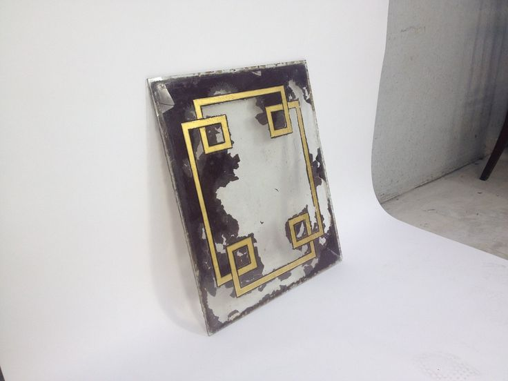 Antique Hand Painted Gilt Glass Panel | e l l a g u r u