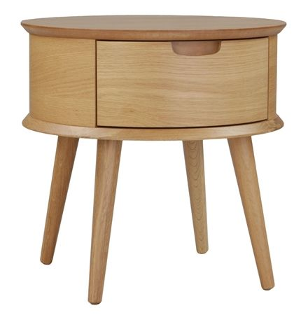 Orbit Bedside Table with Drawer - Matt Blatt