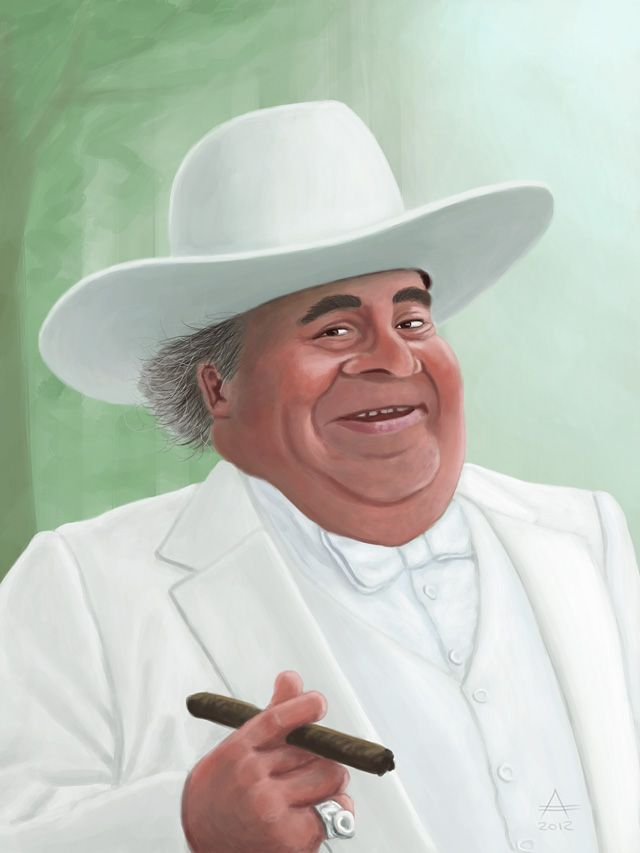 "Sorrell Booke as J.D. ""Boss"" Hogg from ""The Dukes of Hazzard."" (Andrea Austoni illustrator and designer)"