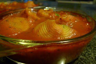 Polskie South Beach: Szpinakowe muszle w sosie pomidorowym