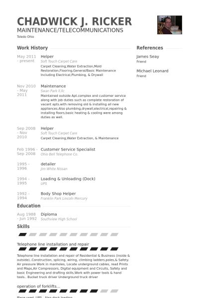 Monster Resume Sample. Construction Carpenter Assistant Resume