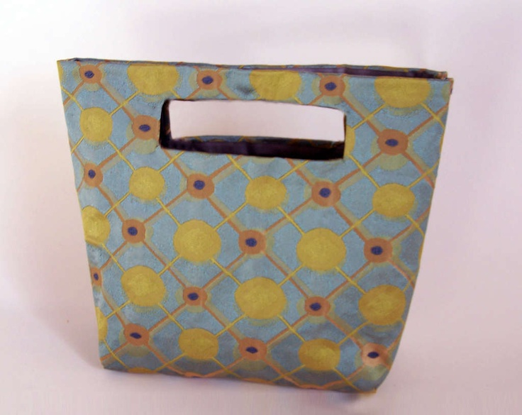 no-sew bag made with duct tape.  Pretty sturdy and water proof.  Looks like a fun project.