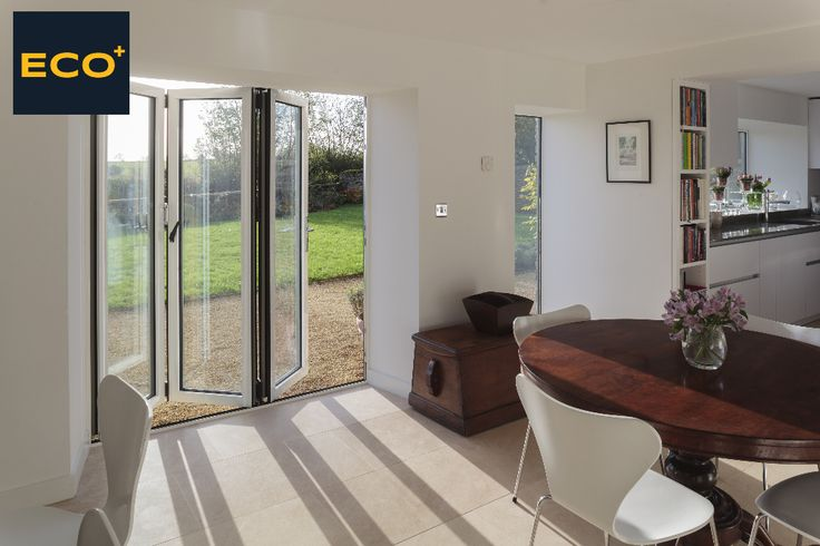 Stylish, energy efficient, robust. These easy to use ECO+ bi-folding doors will make a HUGE difference to your home & garden.