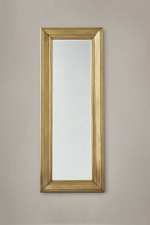 RH's Baroque-inspired mirror is the perfect way to add sparkle to a small wall. $1,115, restorationhardware.com