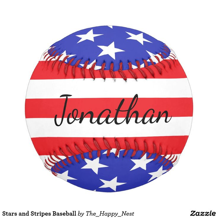 """What's more American than baseball? Get this stars and stripes baseball for your favorite fan or player with their """"autograph"""" across the front."""