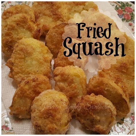 Fried Squash, Summer Squash, Yellow Squash, Southern Fried Squash, Delicious, Best, Tasty