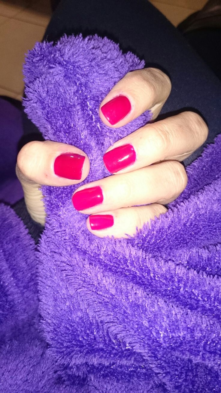 Deep red gel overlay. Chatah Nails By Tamaryn