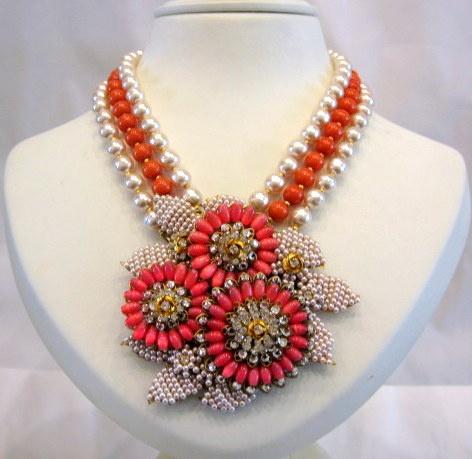 Vintage Stanley Hagler Beaded Necklace @ Harlequin Market