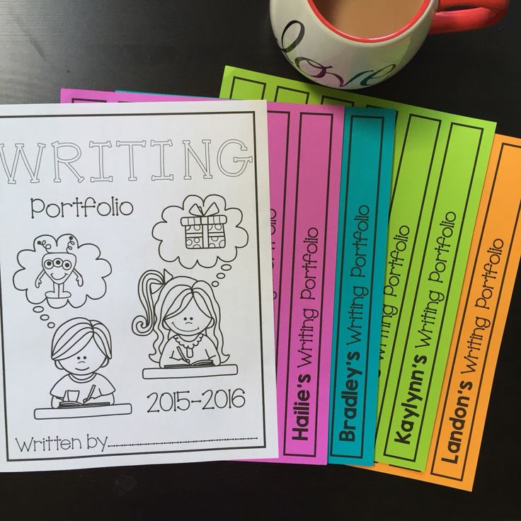 Writing portfolio cover FREEBIE and spine labels!!