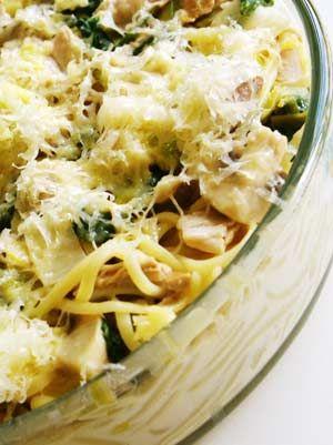 Chicken, leek and pasta pie. Perfect winter food.