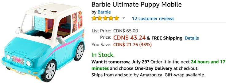 Amazon Canada Deals: Save 33% on Barbie Ultimate Puppy Mobile & 64% on The First Years Take and Toss Bowls http://www.lavahotdeals.com/ca/cheap/amazon-canada-deals-save-33-barbie-ultimate-puppy/229621?utm_source=pinterest&utm_medium=rss&utm_campaign=at_lavahotdeals