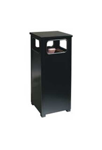 Waste Receptacle flat top: Trash can with flat top designed to withstand all weather conditions