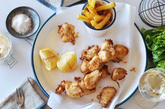 Fish and Chips with Verjuice Mayonnaise - Maggie Beer