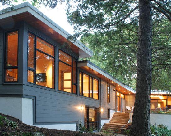 Landscaping deck patio split entry remodel design for Modern home exterior makeovers