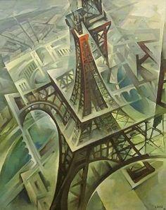 Tullio Crali - La Tour Eiffel