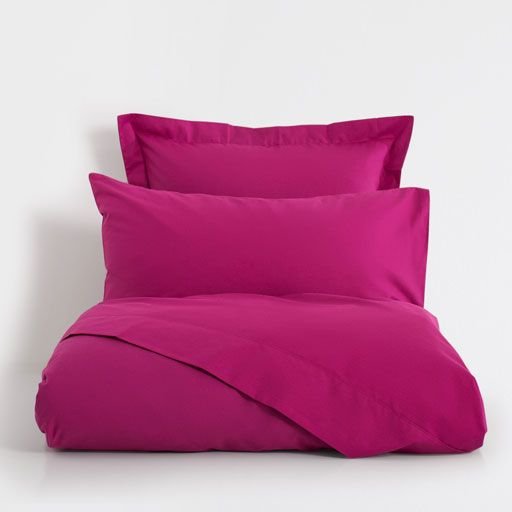 Image of the product Basic dark fuchsia percale bed linen