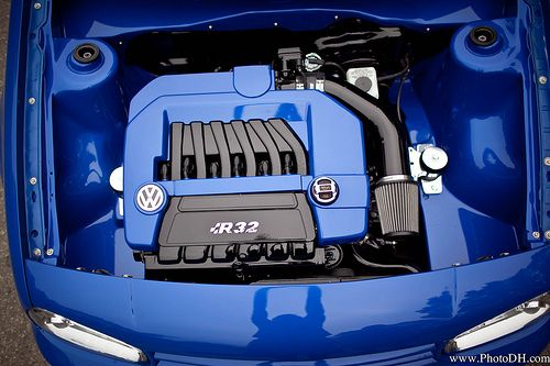 Lovely Clean R32 Engine Bay