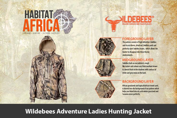 The Wildebees Adventure Ladies Hunting Jacket is made from 100% Polyester…