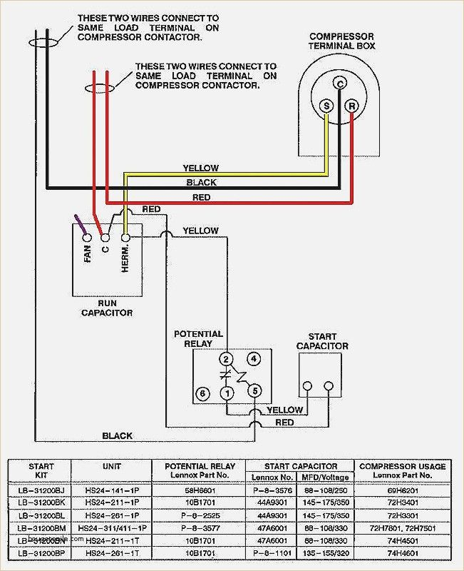 Ac Condensor Wiring - Electrical Schematic Wiring Diagram