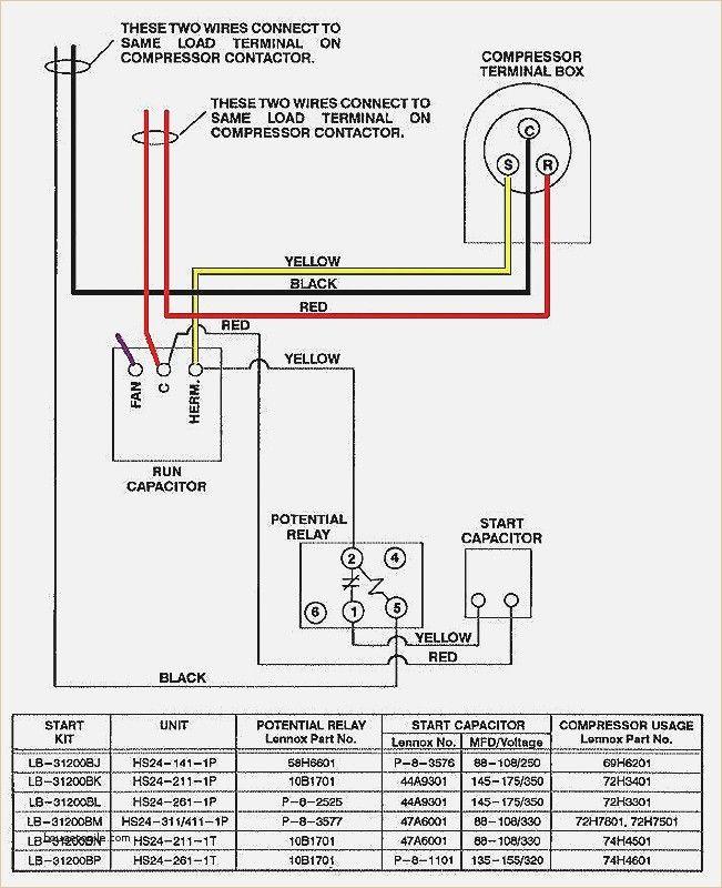 Dual Run Capacitor Schematic