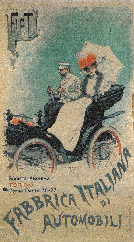 Vecchi Poster   1899    Fabbrica Italiana di Automobili