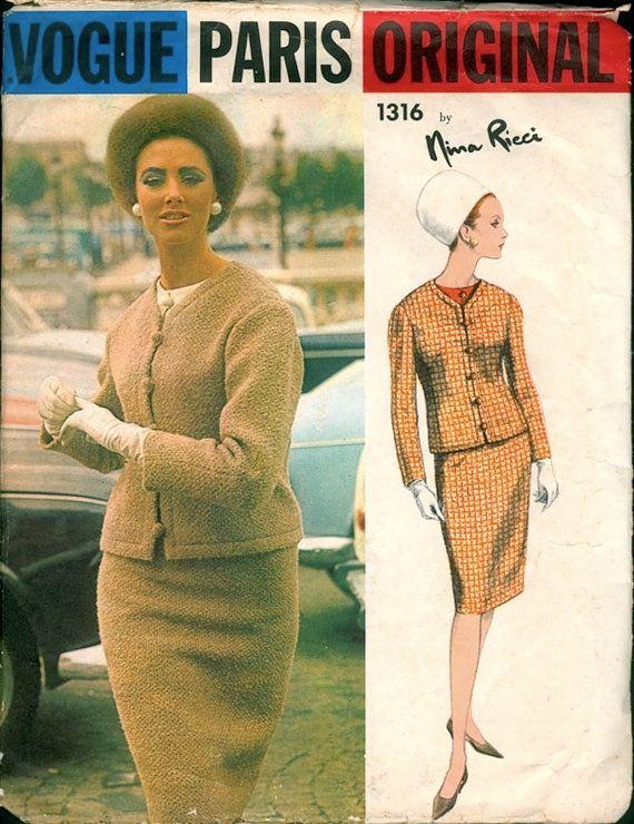 Fab Uncut Vintage 1960s Vogue Paris Original by NostalgieVintage