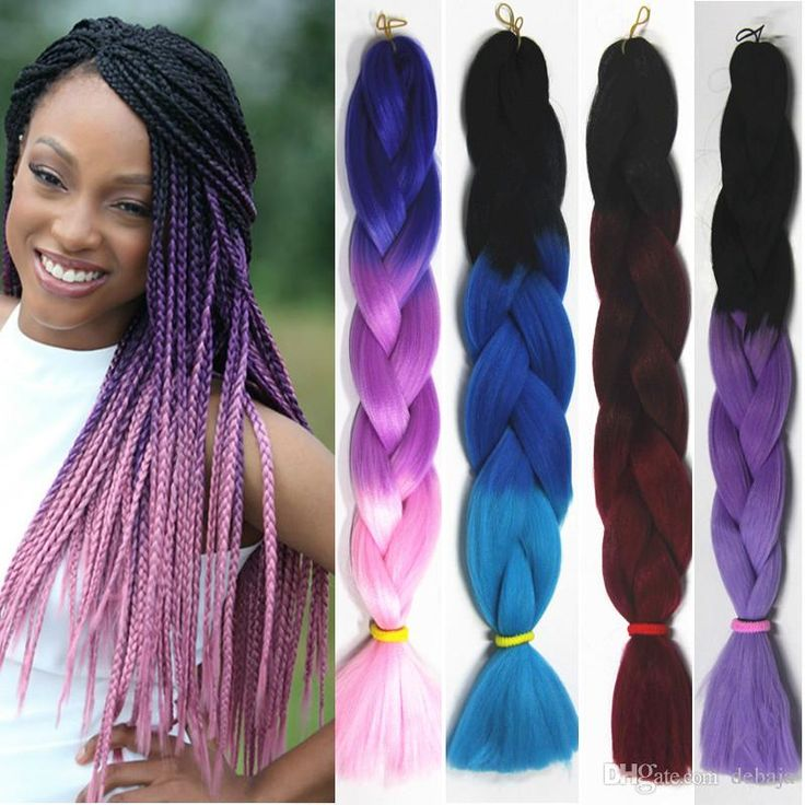 "Ombre Kanekalon Braiding Hair Synthetic 3 Tone Xpression Braiding Hair Extension Crochet Jumbo Braids Hair High Temperature 24"" 100g/PC"