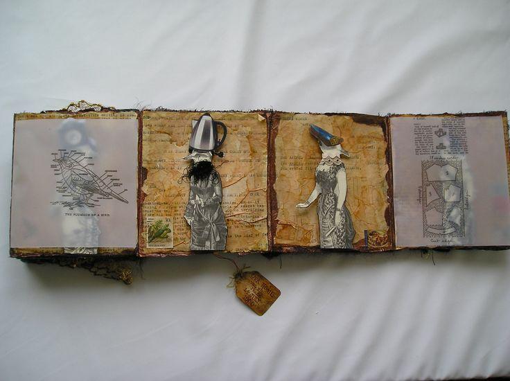Visual Journal collage...Women Birds. Bird Women