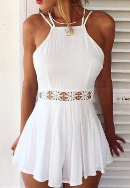 hot, lace, hollow, out, flower, dress, outfitshunter, pinned